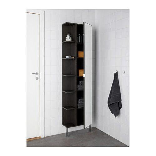 LILLÅNGEN Mirror cabinet 1 door/1 end unit, black-brown black ...