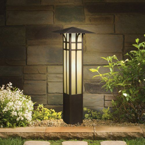 The Kichler Lighting 15458oz Mission Bollard 1lt Incandescentled