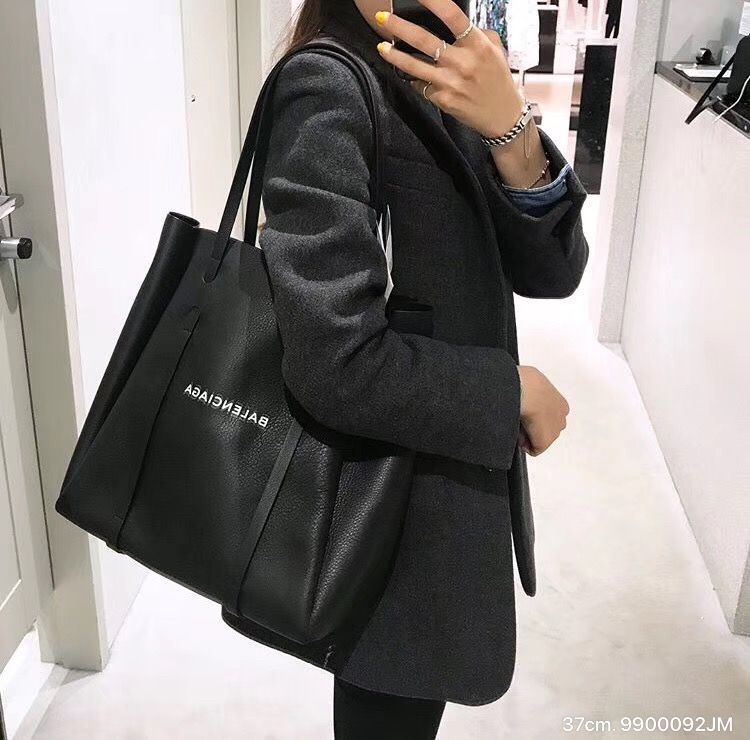 Balenciaga shopping bag, Black tote bag