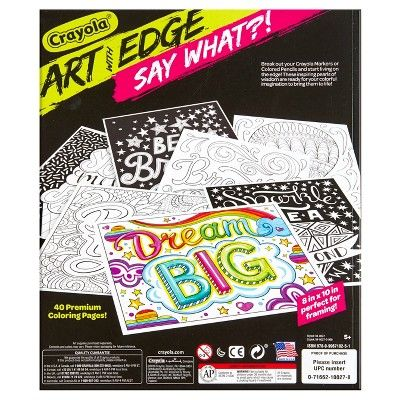 Crayola Art With Edge Coloring Book Say What Crayola Art Coloring Books Crayola