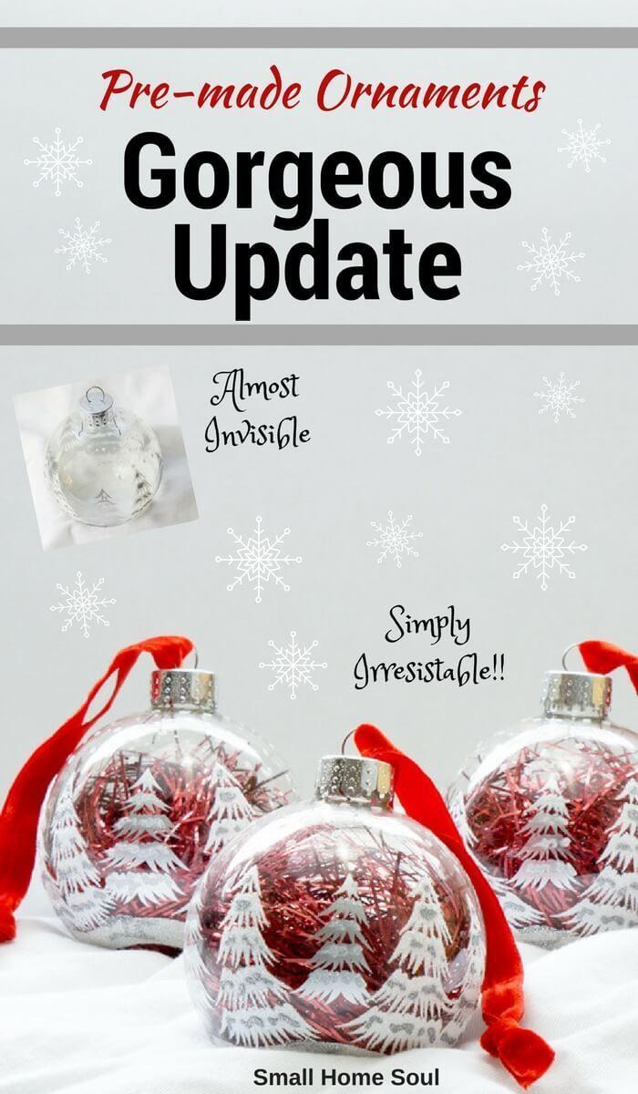 Easy Ornament Updates - Make Plain Ornaments Gorgeous | Easy ...