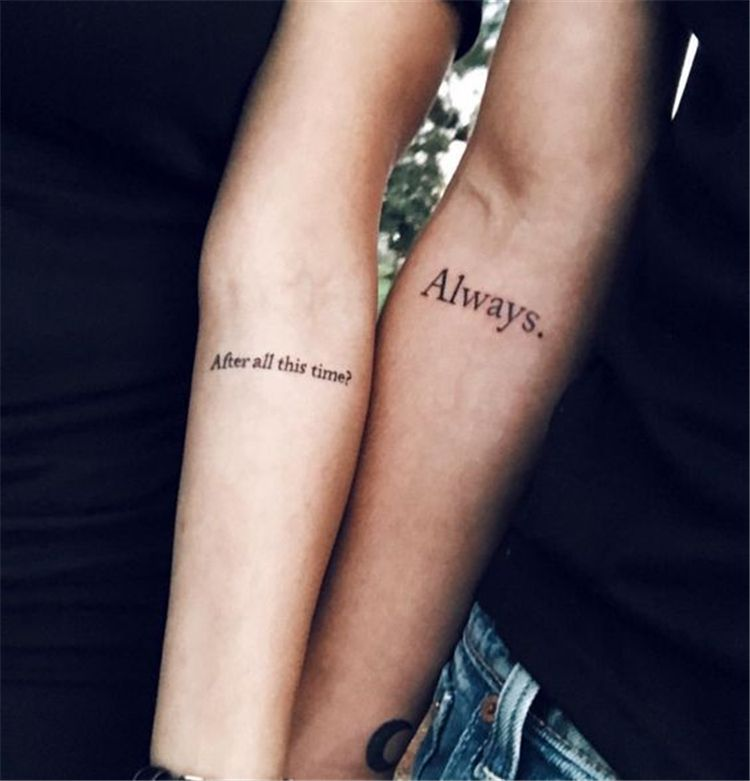 Perfect And Forever Couple Matching Tattoos For The Hopeless Romantics Couple Tatt Meaningful Tattoos For Couples Matching Best Friend Tattoos Romantic Tattoo