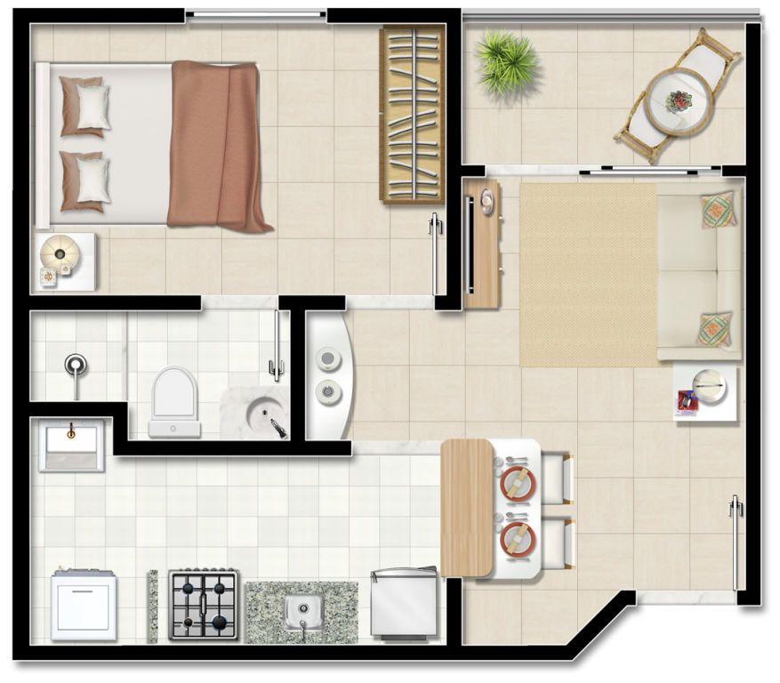 35 modelos de planta baixa para minha casa minha vida for Modelos de casa pequenas para construir