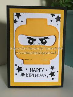 Hello And Welcome Back Today S Card Is A Take On The Lego Ninja S Or Ninjango Lego Birthday Cards Birthday Cards For Boys Kids Birthday Cards