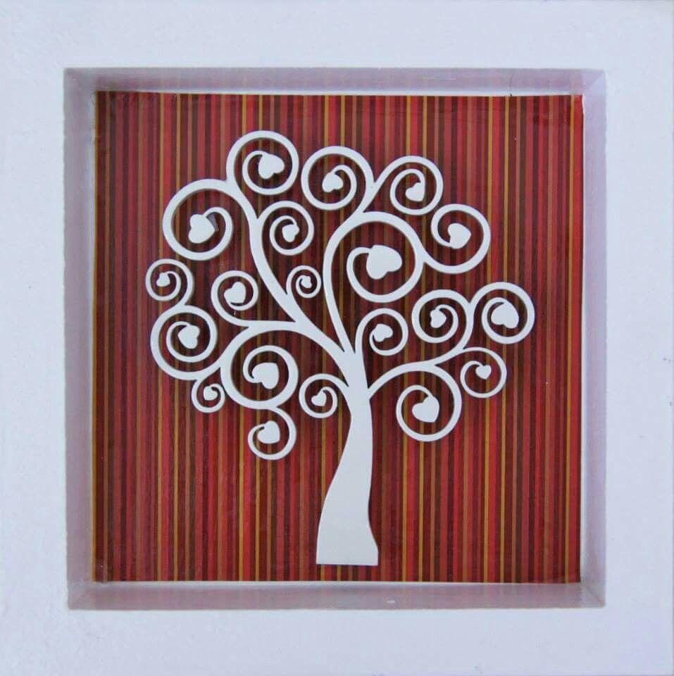 Árbol de la vida con corazones | Cuadros decoupage | Pinterest ...