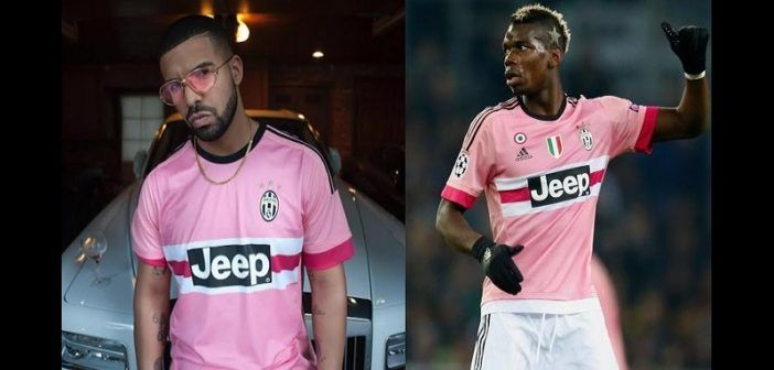 check out d16a7 be13c Drake supporter of Paul Pogba and juventus: PHOTOS ...
