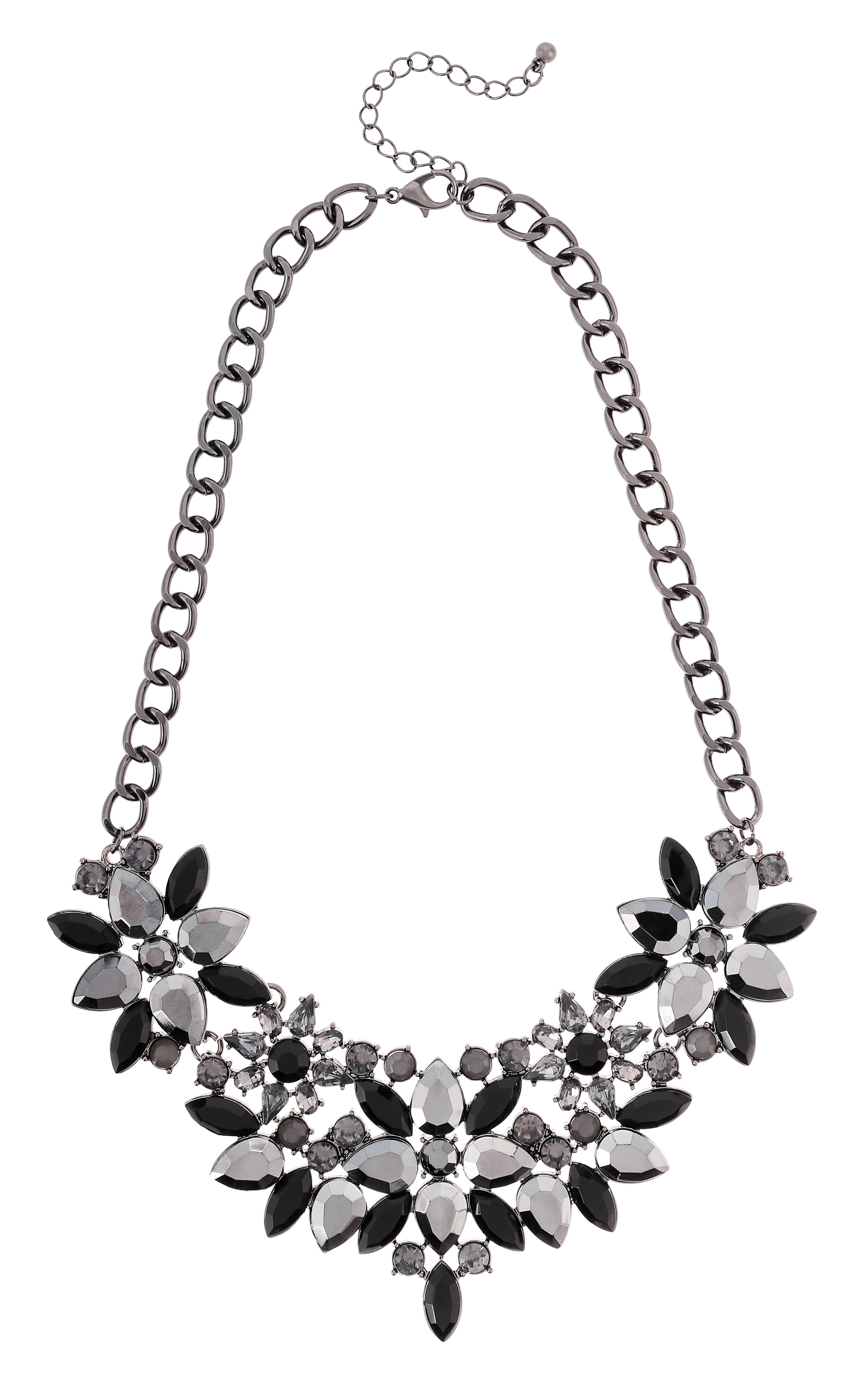 collier anthracite flowers bijou brigitte online shop nl accessoires in 2019 schmuck. Black Bedroom Furniture Sets. Home Design Ideas