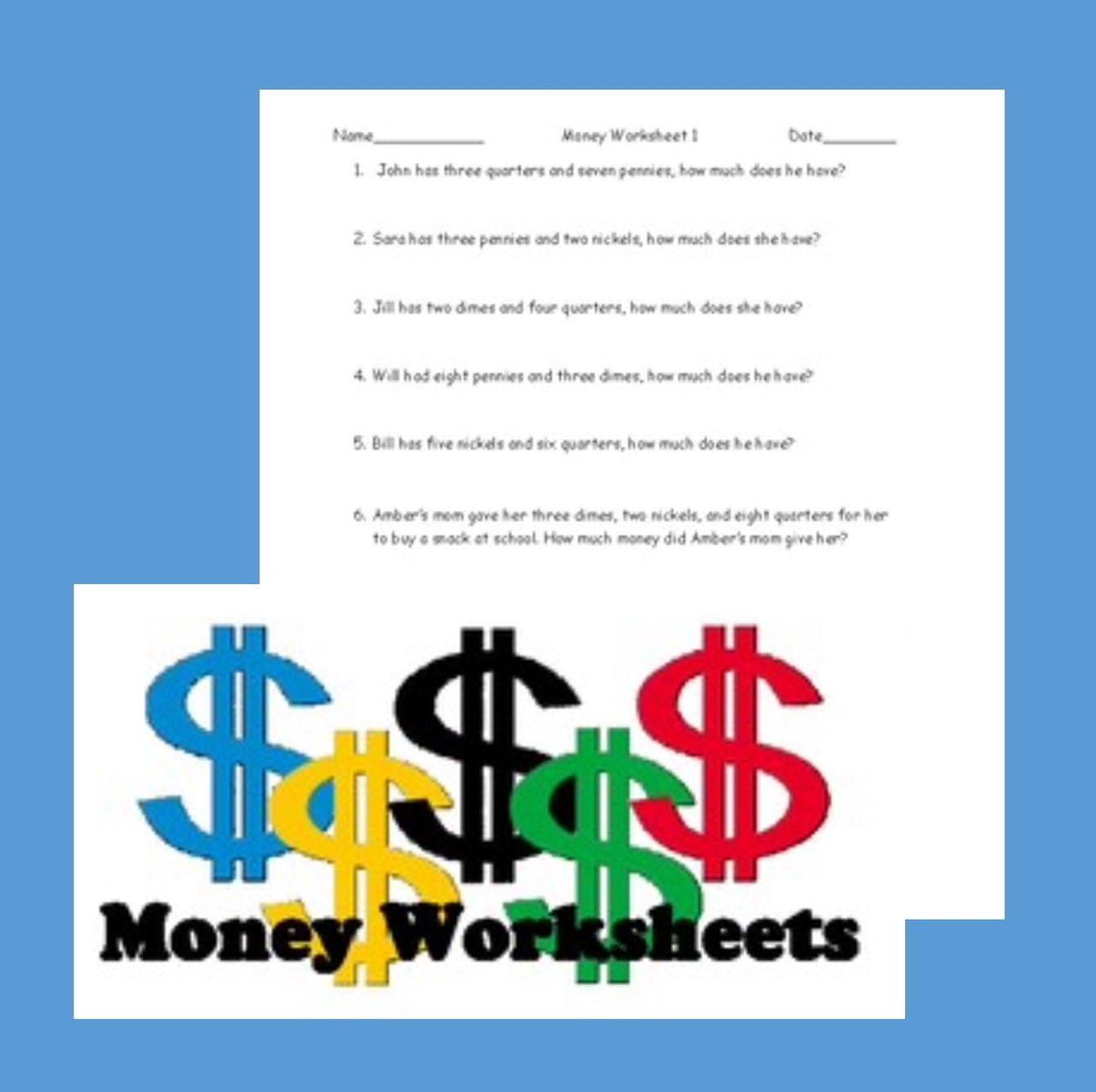 U S Money Worksheet