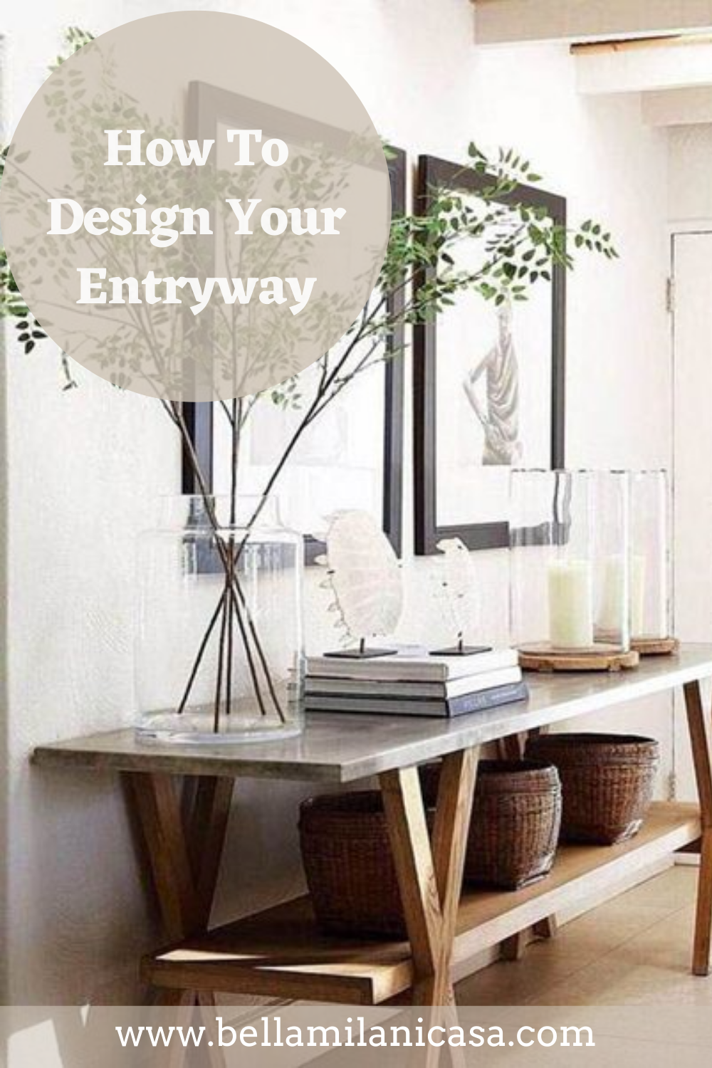 Learn how to design your entrway with these 6 tips! #homedecor #easydecor #entrwayideas #decorideas