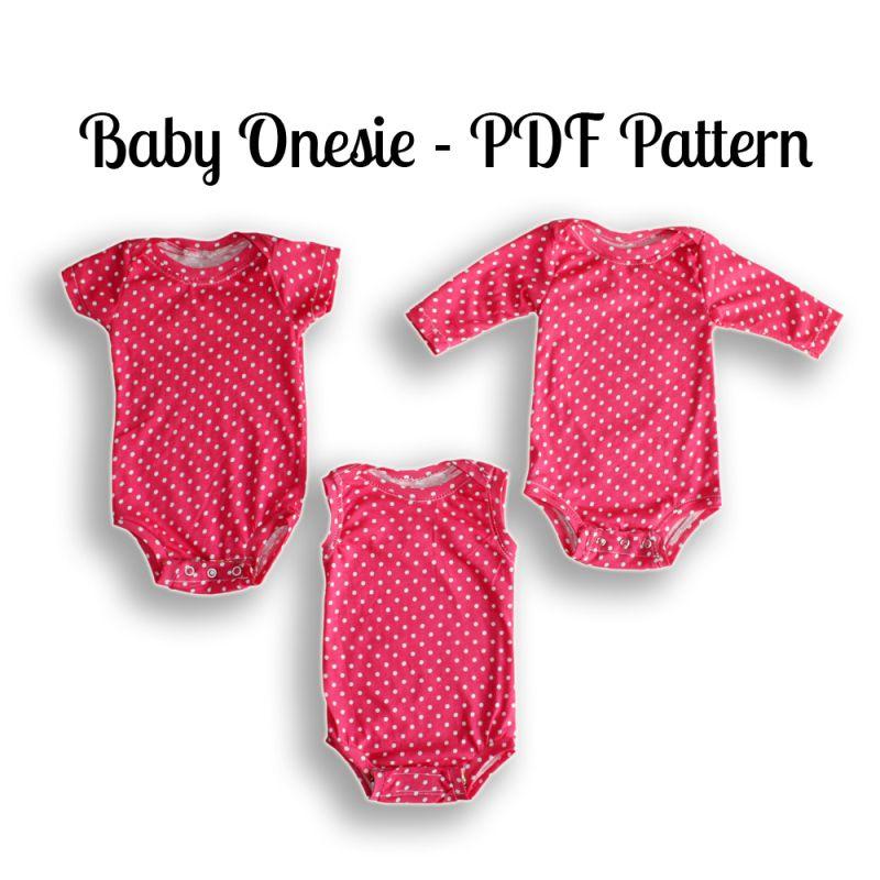 Onesie Sewing Pattern | NB-36 Months | Onesie pattern, Baby onesie ...