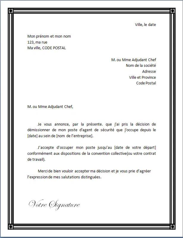 Lettre De Demission Pour Un Agent De Securite Docutexte Lettre De Demission Agent De Securite Exemple Lettre Motivation