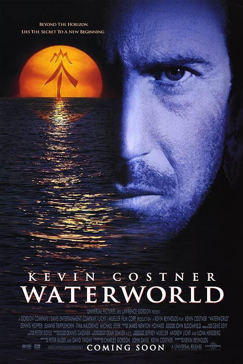 Waterworld Poster Kevin Costner World Movies Waterworld