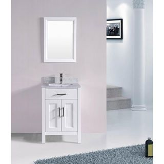 24 Inch Bathroom Vanity And Sink 24 inch belvedere bathroom vanity set with marble top (white