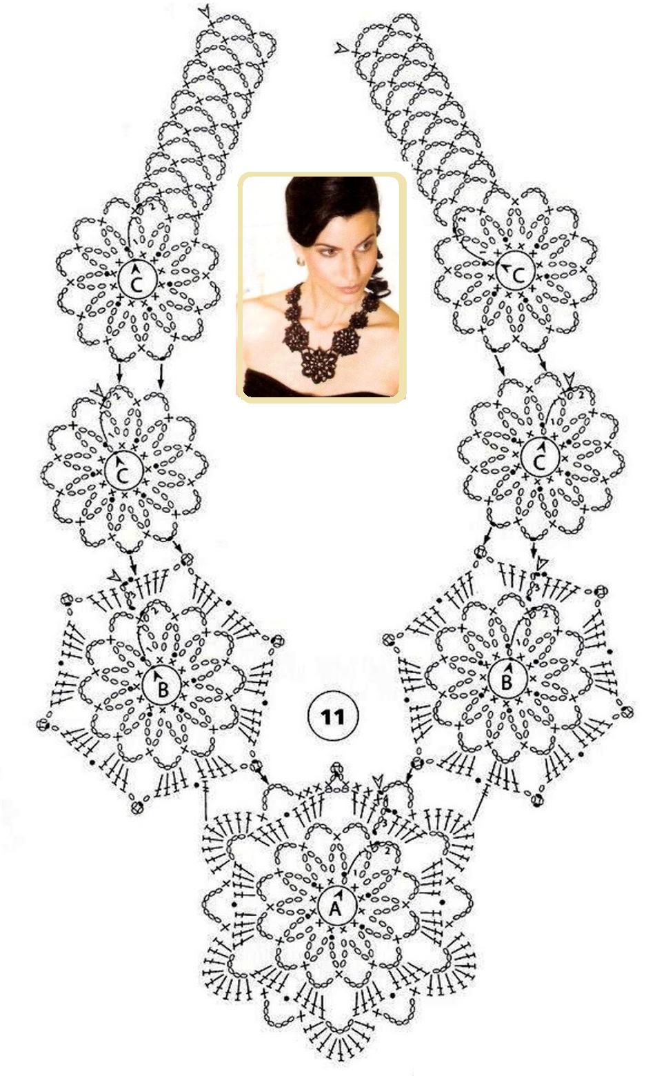 collar+de+crochet+patron.png 937×1,560 pixels | Crochet | Pinterest ...