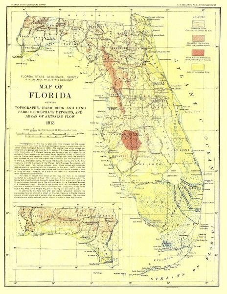 maps of marion county florida  1874 Beers Map of Florida Georgia