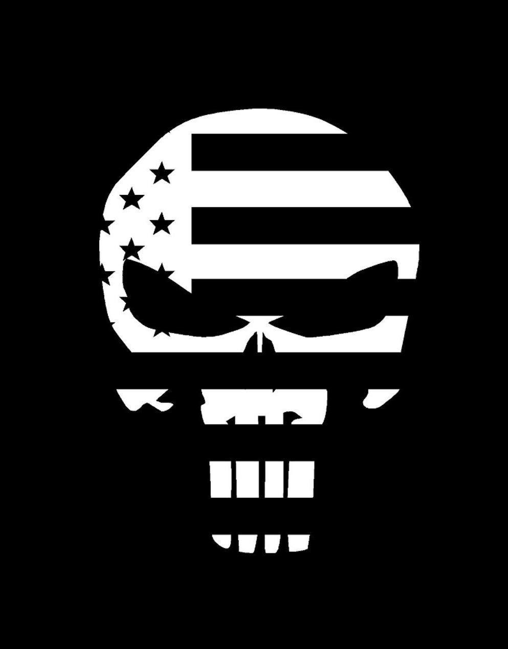 COLOR Punisher Skull Flag Vinyl Decal Sticker U Pick SIZE