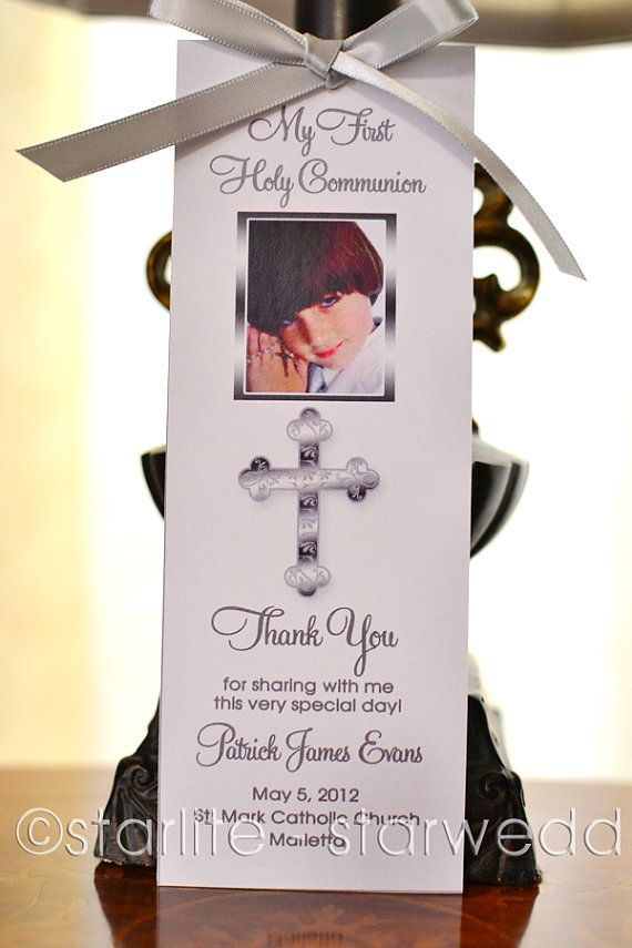 Printable First Communion Favors photo bookmark favors by starwedd ...