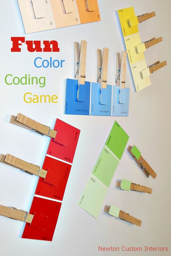 Fun color coding game for kids from NewtonCustomInteriors.com #kidsactivities