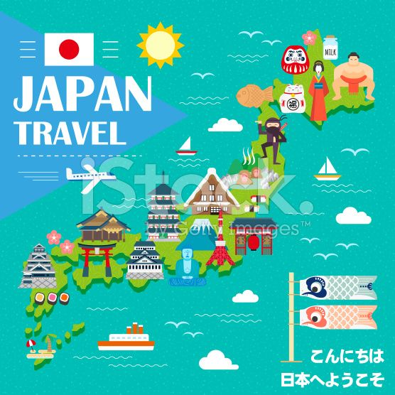 Geography Of Japan Japan Is A String Of Islands On Th - Japan map cartoon
