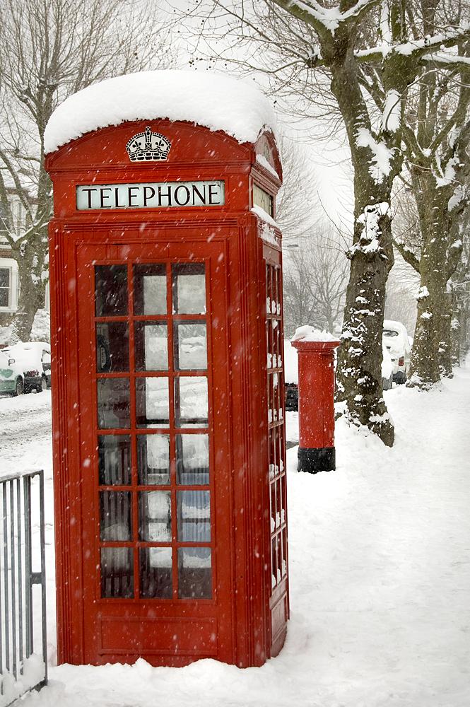 Phone Box Letter Box Telegraph Hill London 2009 London Christmas London Snow Winter Photography