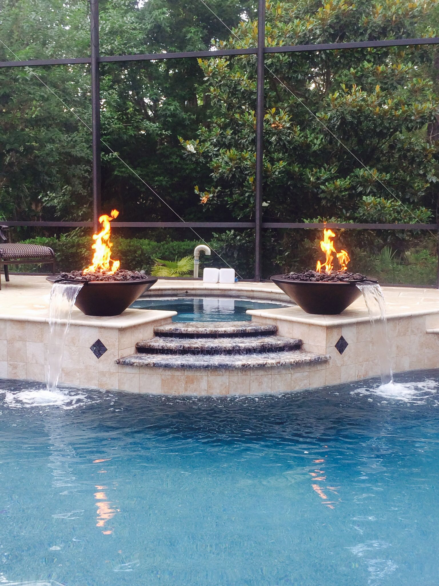 Dual Grand Effects Essex Fire And Water Bowls Outdoor Living Outdoor Decor Outdoor