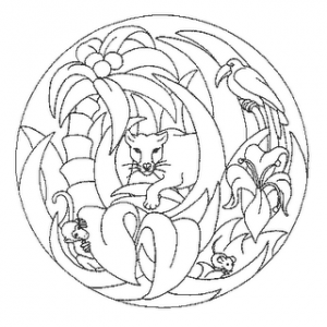 Mandala Para Colorear Selva Material De Trabajo