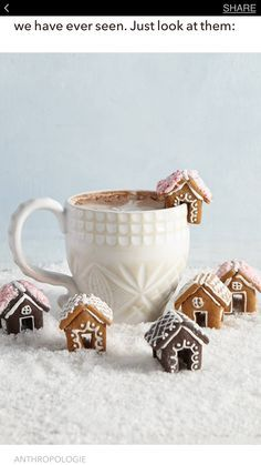 You Need to Be Adding Mini Gingerbread Houses to Your Hot Chocolate