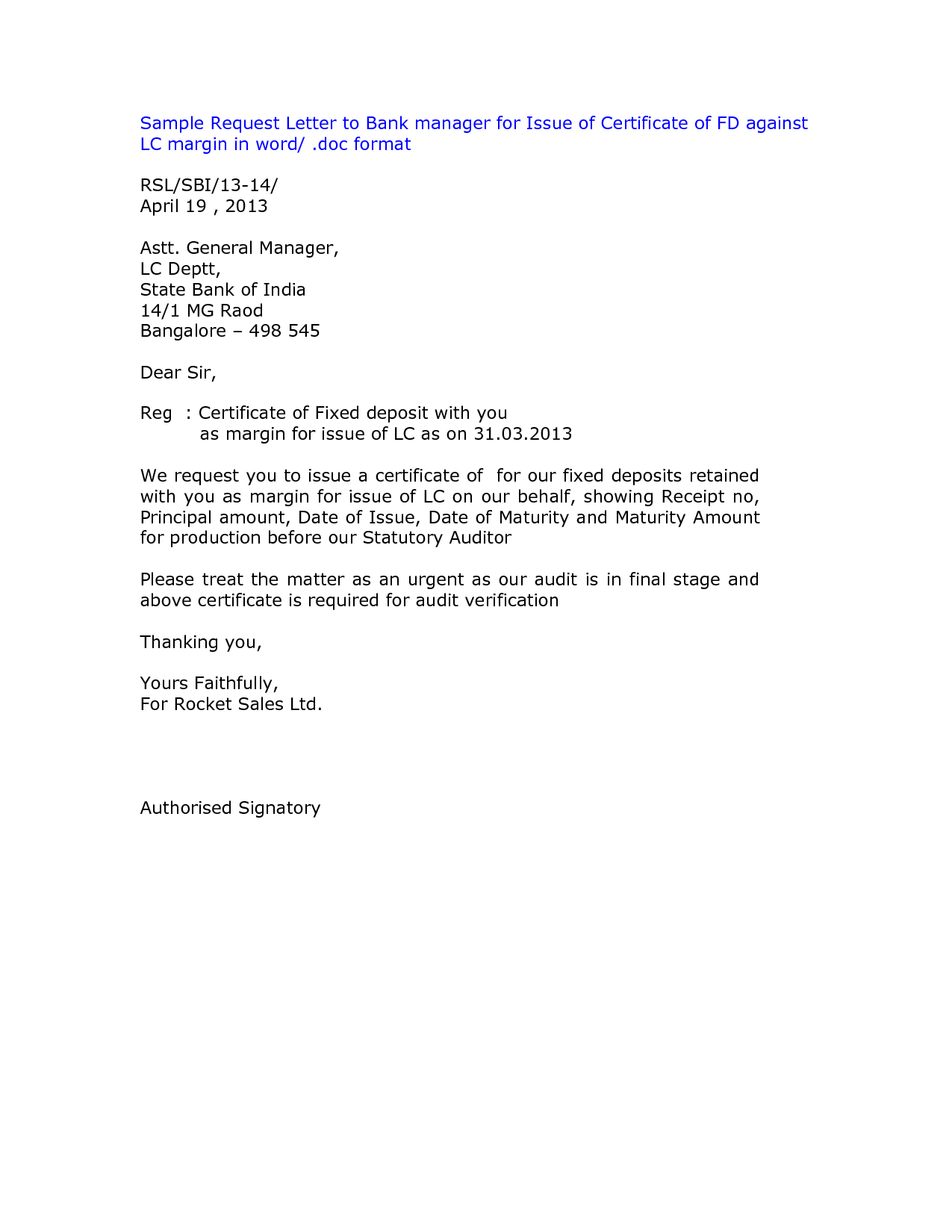 Request Letter For Transfer Certificate From School Sample
