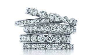 DREAMY...the perfect wedding ring! Two stackables...or maybe three! :)