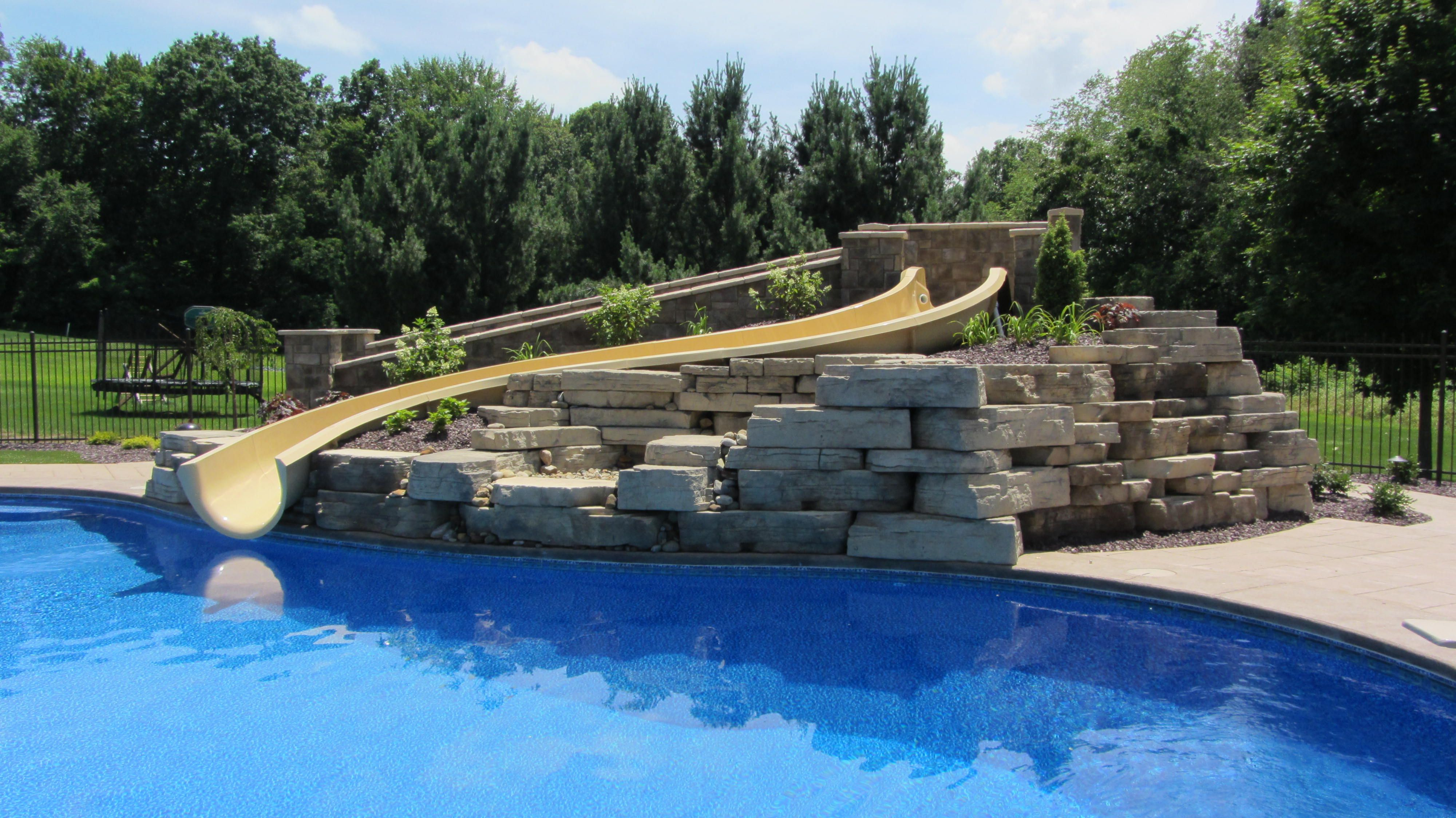 a custom residential water slide by paradise slides inc water