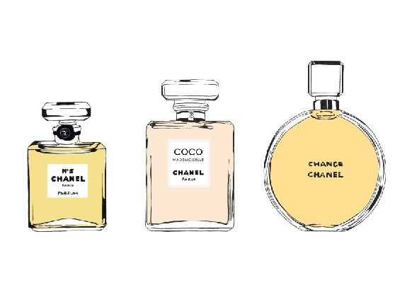 Chanel Perfume Bottles Print. £12.50, via Etsy.