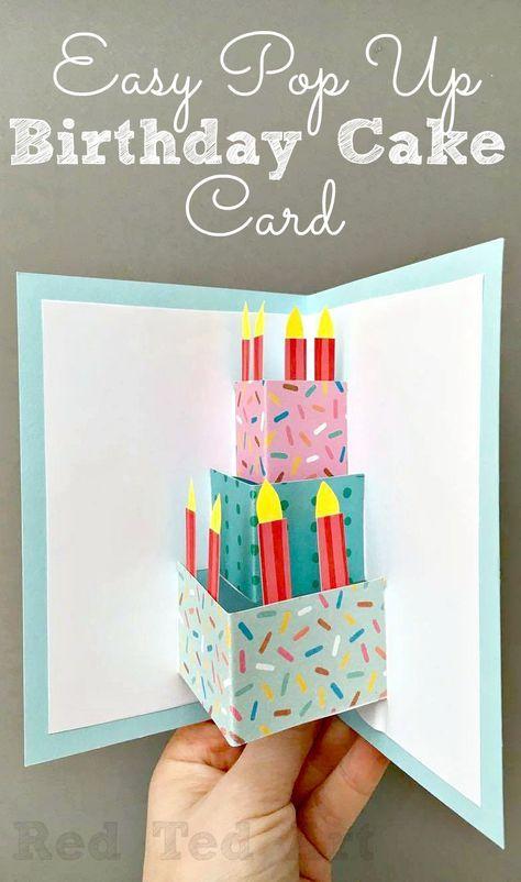 Easy Pop Up Birthday Card Diy Cards Pinterest Diy Birthday