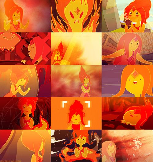 Flame Princess + Orange (Adventure Time)