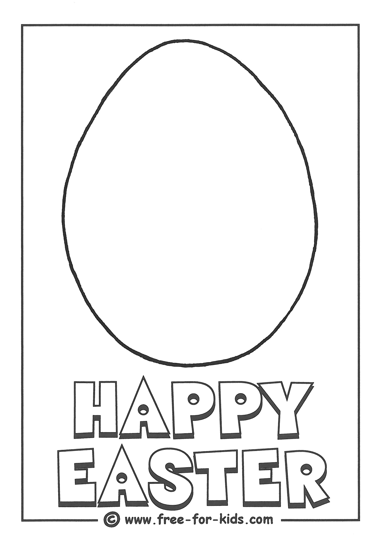 Blank Easter Egg Outline To Decorate Easter Egg Outline Template Printable Printable Chart