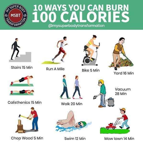 10 ways to burn 100 CALORIES Here are 10 ways you can burn ...