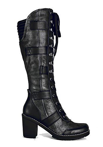 pretty Distress Knee High Vintage Style Grunge Steampunk