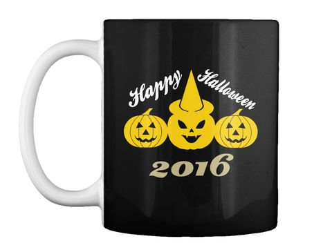 Happy Halloween 2016 Black T-Shirt Front