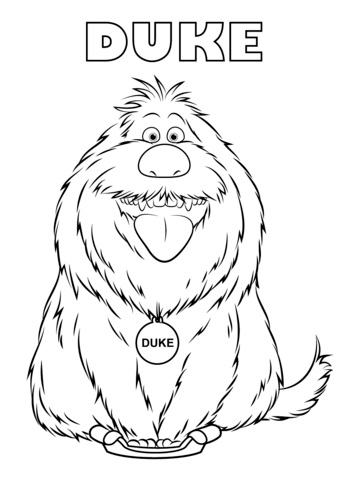 Duke from the Secret Life of Pets Coloring page | Paws | Pinterest ...