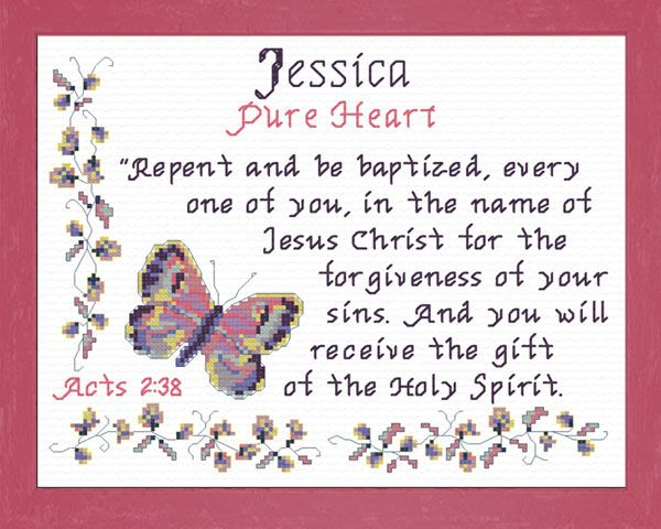 Cross stitch jessica with a name meaning and a bible verse name cross stitch jessica with a name meaning and a bible verse negle Images