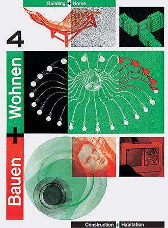 Wohnen Magazine richard paul lohse bauen wohnen 4 1948 posters