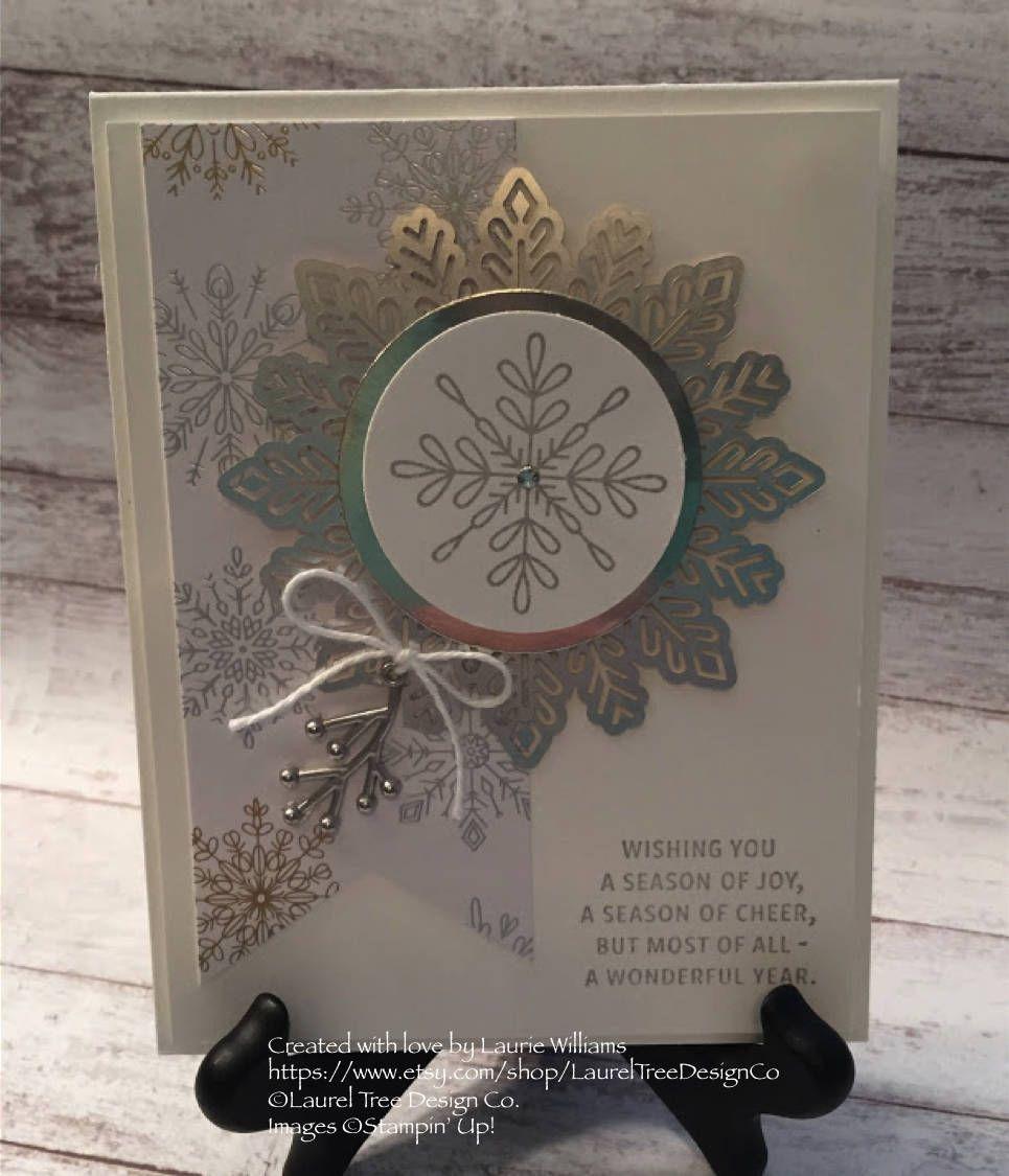 Christmas Card, Classic Christmas Card, Handmade Card