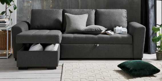 Buy Quentin Universal Corner Storage Sofabed 4 Seats House Textured Charcoal Dark From The Next Uk Online Shop Corner Storage Fabric Houses Sofas And Chairs