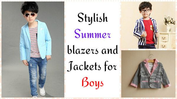6eddba057 Stylish Summer blazers and Jackets for Boys Children in India