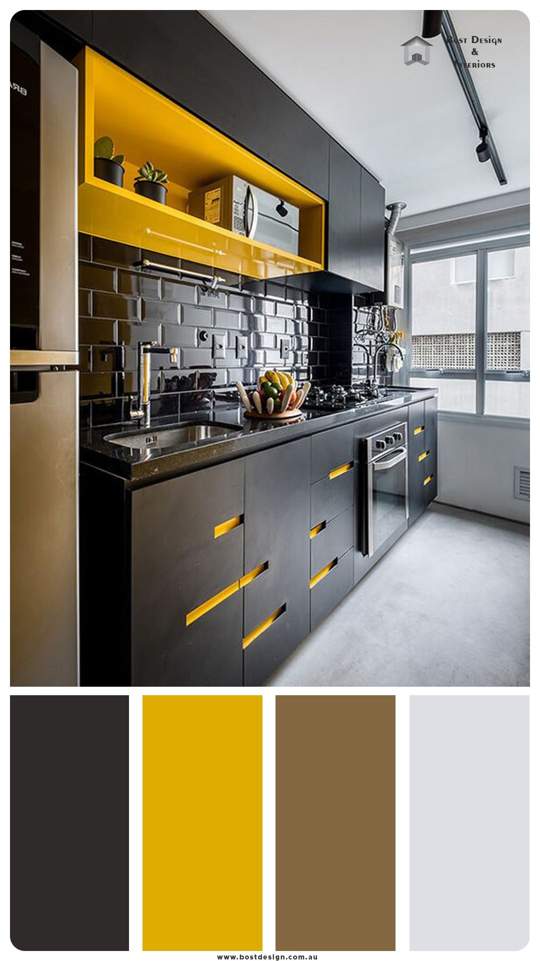 Black And Yellow Color Pallet For Kitchen In 2021 Design Decor Designs