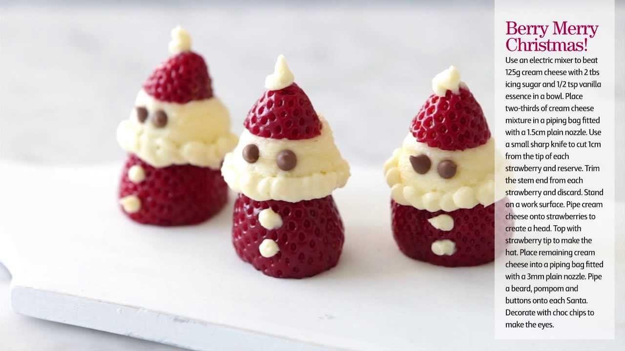 How to make Christmas Strawberry Santas- Coles