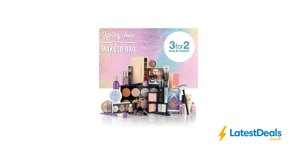 3 For 2 On All Cosmetics And Selected Hair Products Mix Match At
