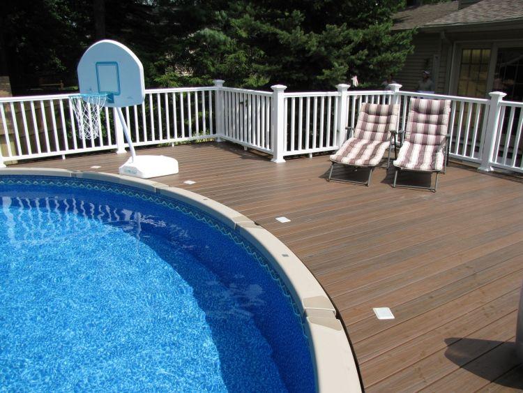 poolumrandung holz wpc rund oval terrasse liegen gross. Black Bedroom Furniture Sets. Home Design Ideas