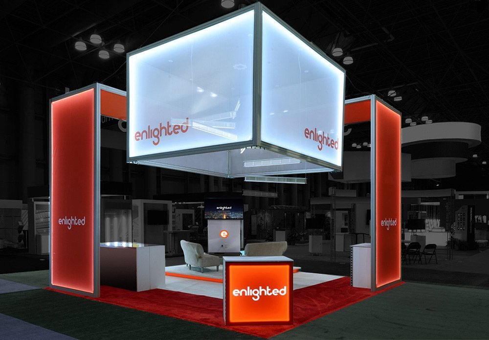 Exhibition Booth Header : Lighting is a secret weapon in your trade show booth design