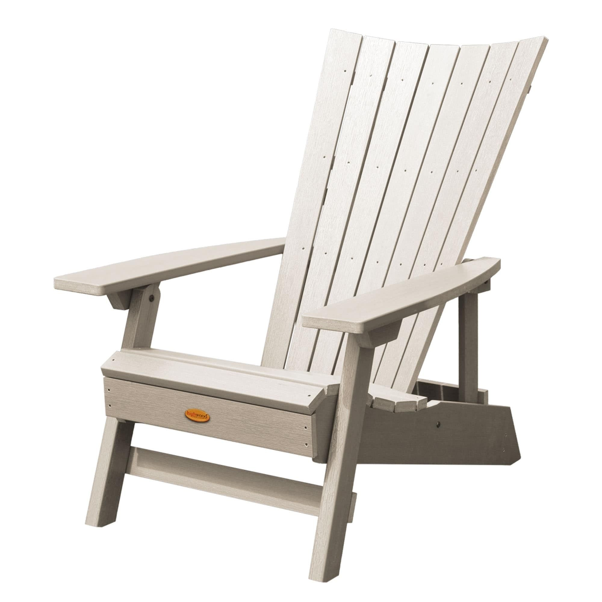 Highwood Manhattan Beach Adirondack Chair Cream Ivory Size