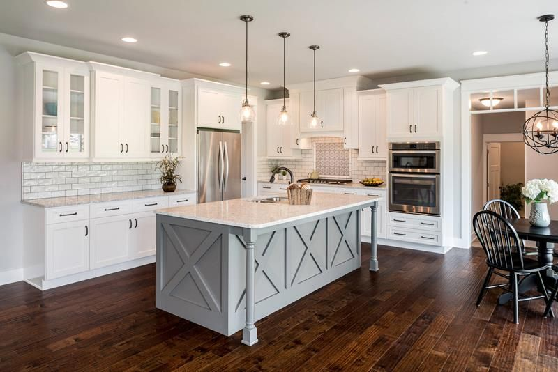 35 Kitchens With Dark Floors Farmhouse Kitchen Design White
